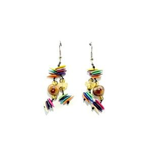Cantaloupe seed earrings
